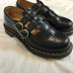 Dr. Martens Black Two Buckle Mary Jane Shoes
